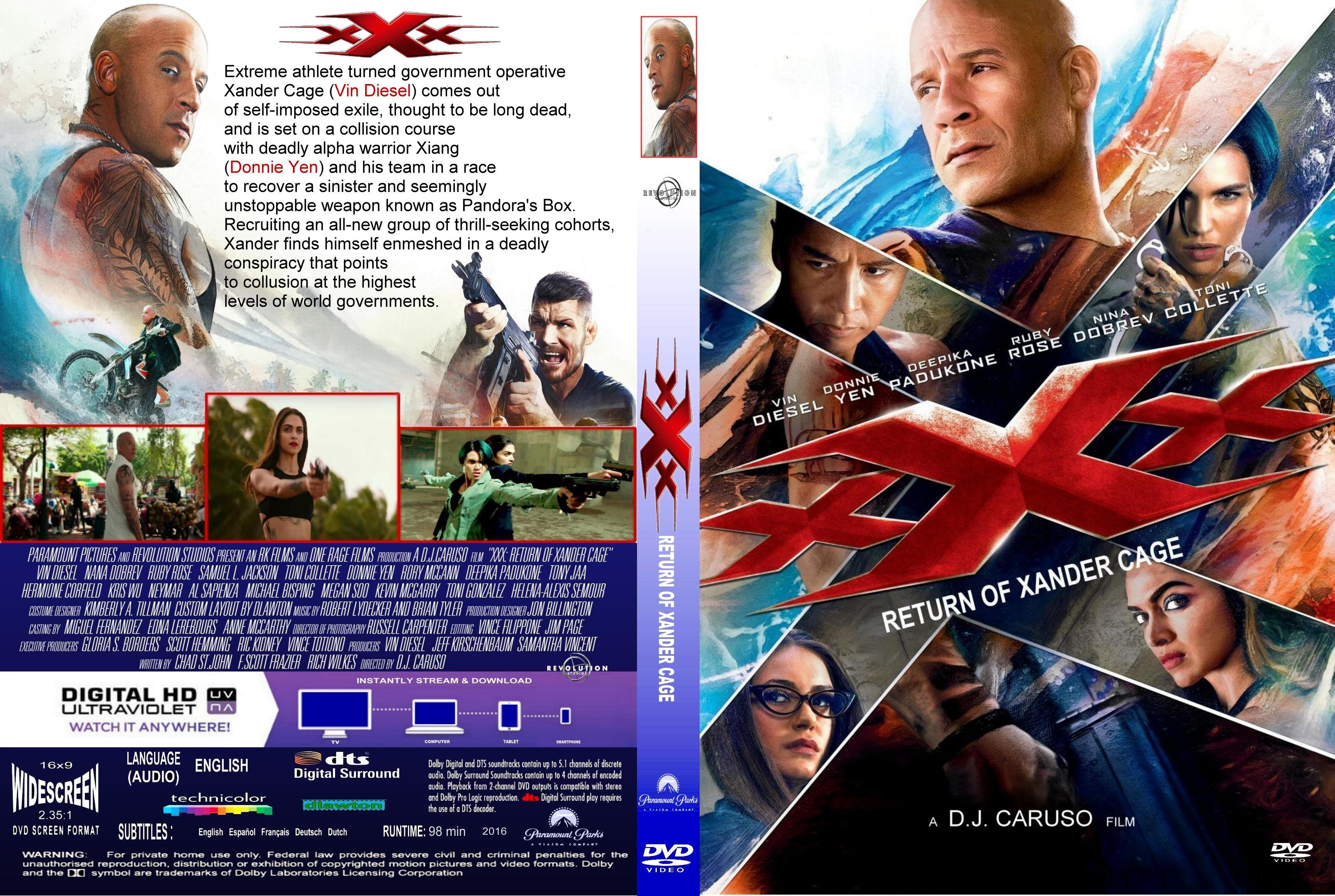 Xxx Return Of Xander Cage 2017 Front Dvd Covers Cover Century Over 500 000 Album Art Covers For Free